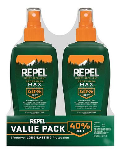 Repelente Mosquito E Insectos De 6 Oz. Spray Max Repel 40%