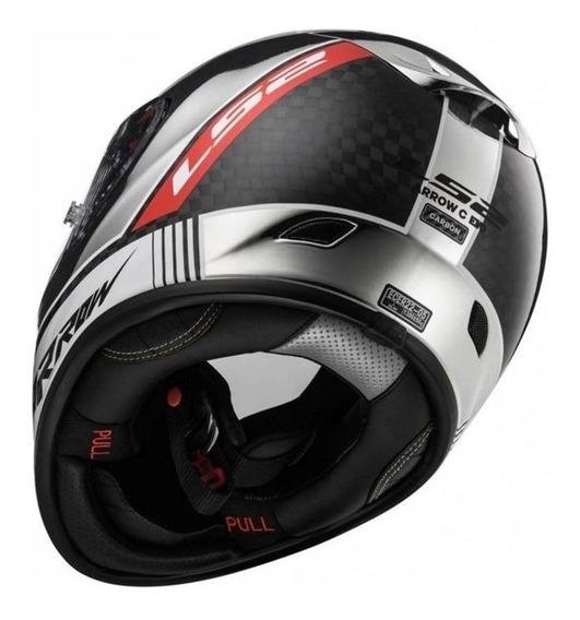 Capacete Ls2 Ff323 Arrow C Indy Carbon Cromado Rs1