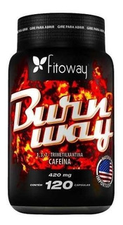 Thermogênico Burnway Fitoway 120 Caps 420mg Cafeina Original