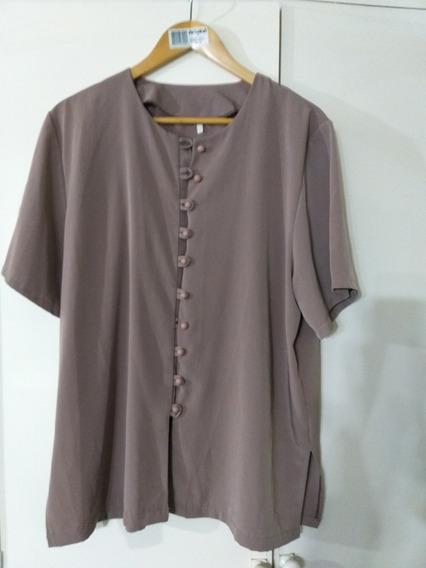 Blusa Camisola De Vestir Mujer Impecable Chocolate Marroc