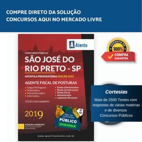 Apostila São José Rio Preto 2019 - Agente Fiscal De Posturas