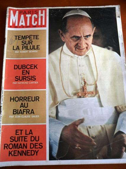Revista Paris Match - Papa Paulo Vi, Família Kennedy (1968)