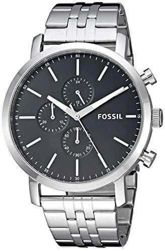 Fosil Bq2328ie Reloj De Cuarzo Para Hombre Acero Inoxidable