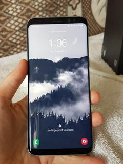 Samsung Galaxy S8 (azul) Com Caixa + 3 Capinhas