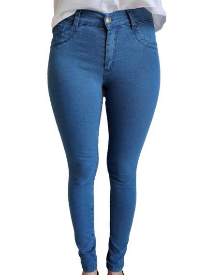 4 Jeans Mujer Chupin Tiro Alto Elastizado Por Mayor Envío Gratis