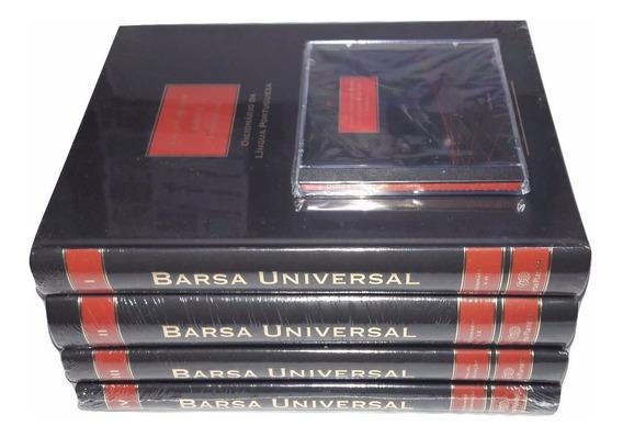 Dicionário Barsa Língua Portuguesa 4 Livros 1 Dvd - Promoção