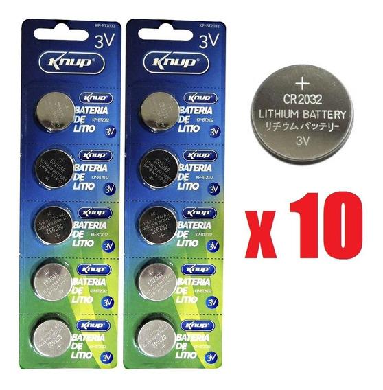 Kit 10 Baterias Cr2032 Para Aparelhos De Glicemia / Diabetes