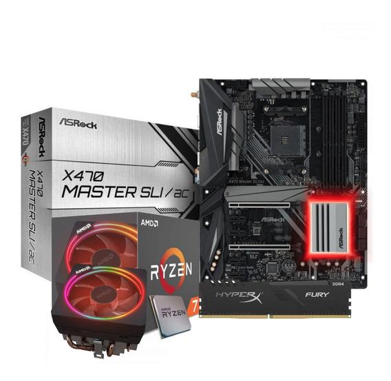 Kit Processador Ryzen 7 2700x Asrock X470-sli Fury 8gb Hx
