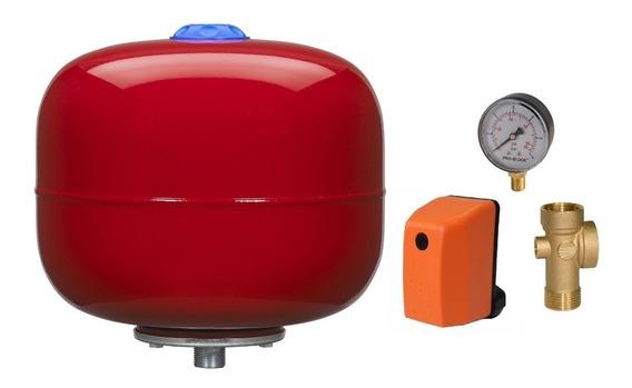 Kit Hidroneumatico Pedrollo Pulmon 24 Litros Manometro