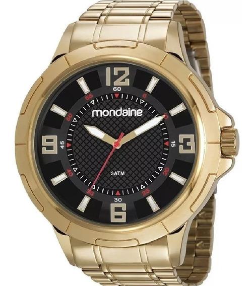Relógio De Pulso Mondaine Masculino 83398gpmvde2 Dourado