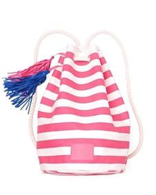 Bolsa Mochila Victoria Secret Pink White Lona - C760
