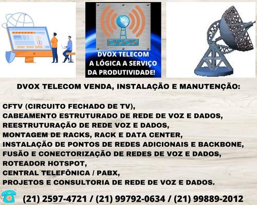 Imagem 1 de 10 de Dvox Telecom:  Cftv,  Cabeamento Estruturado