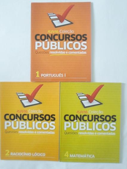 Livros Para Concursos Públicos Lote Com 3