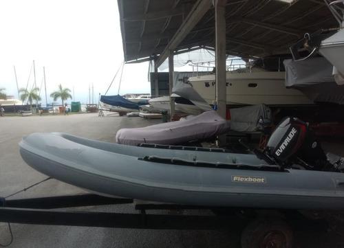 Flexboat Sr 12  Lx   Evinrude 30 Hp E-tec