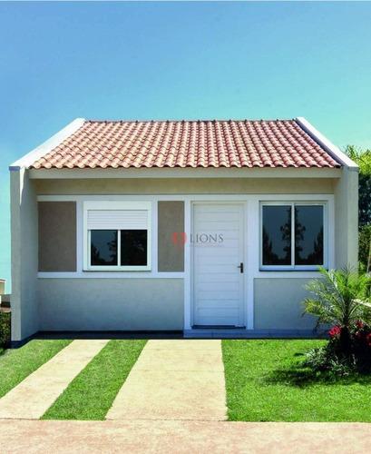 Imagem 1 de 5 de Casa Com 2 Dormitórios À Venda, 39 M² Por R$ 128.000 - Jardim Betânia - Cachoeirinha/rs - Ca0989
