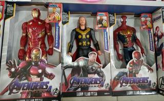 Muñecos Marvel Titan Hero Superhéroes Batma Spiderman Ironma