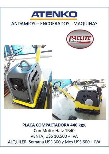 Placa Compactadora / Placa Vibradora Paclite Imp444 440 Kgs