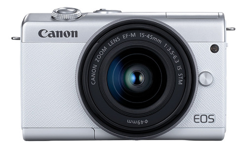 Canon EOS M200 15-45mm IS STM Kit sin espejo color blanco