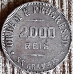Arremate 1911 2000 Reis - Xxg De Prata 33mm Republica