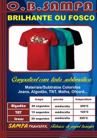 Papel Transfer Obm Sublimático 100 Folhas A4 Camiseta Escura