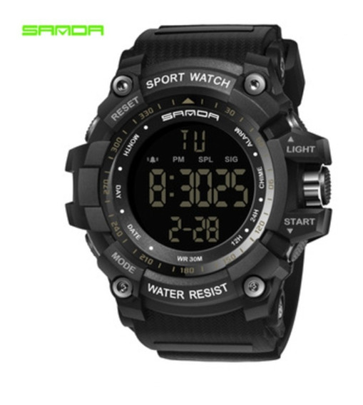 Relógio Sanda 359 Black Special Sport Watch/ Water Resist
