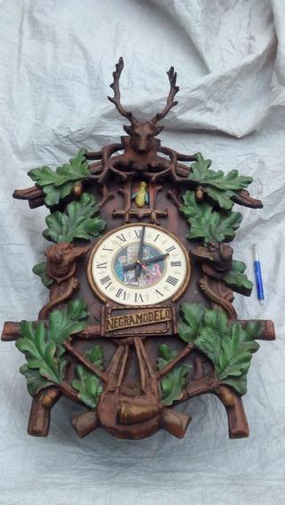 Reloj Publicidad De Bar O Cantina Negra Modelo.