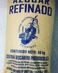 Azúcar Blanca Refinada En Sacos De 50 Kilos
