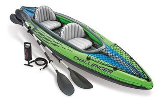 Oferta Kayak Inflable Intex 2 Personas Envio Y Remos Gratis