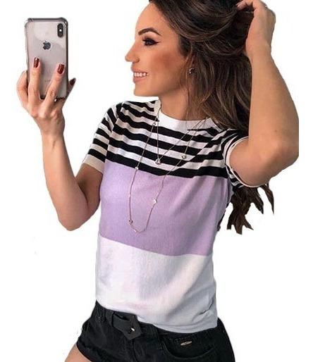 Blusa Tshirt Tricot Camiseta Blusinha Tricot Moda Instagran