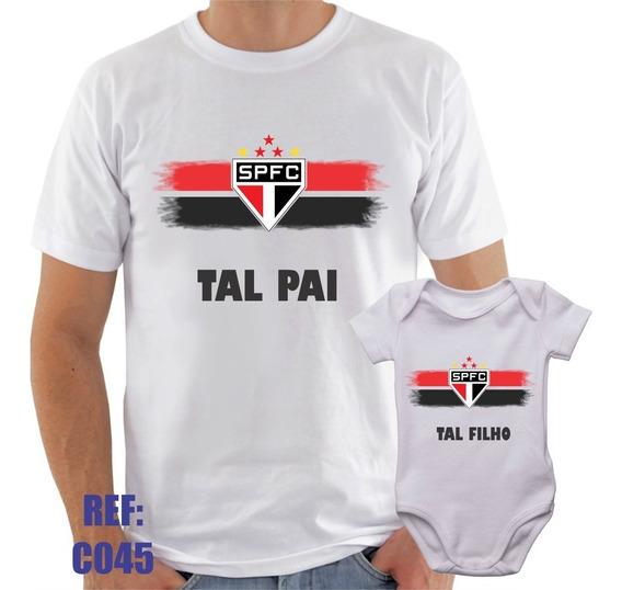 Camisa + Body São Paulo Tal Pai Tal Filho Futebol Esporte