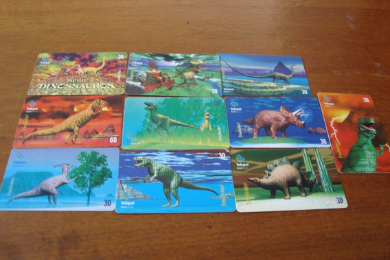 Cartao Telepar / Dinossauros / Completa 10 Cts Tir=90000