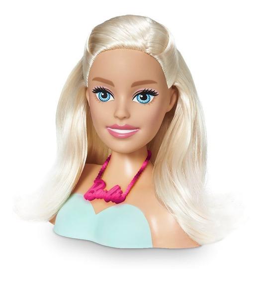 Busto Boneca Barbie Para Pentear Maquiar Styling Head Cabelo