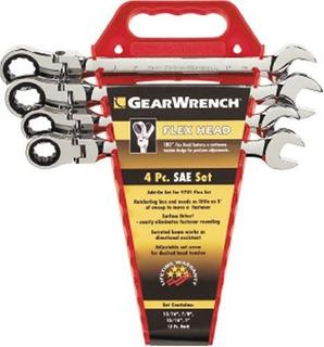Gearwrench 9703 4 Piezas Flexhead Llave De Trinquete Complet