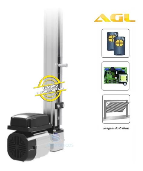 Kit Motor Portão Eletronico Basculante Agl 1/4hp 2 Metros
