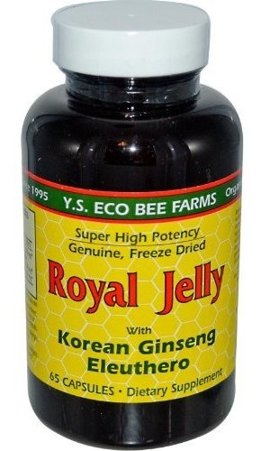 Jalea Real 200 Mg  Y.s. Bee Far Orgánico, 65 Cápsulas