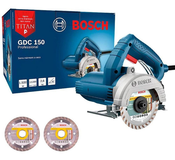 Serra Mármore Bosch Titan 1500w Gdc150 Com 2 Discos