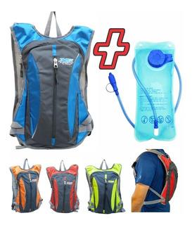 Mochila Hidratante Tipo Camelbak Con Bolsa 2lts Hidratacion Running Mtb Trekking Travesía Enduro