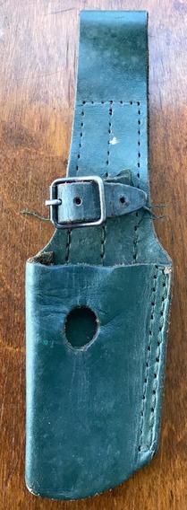 Tahali De Cuero Verde Para Bayoneta De Fusil Fal (1970/90)