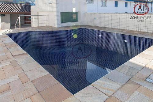 Casa Com 4 Dormitórios, 3 Suítes 453 M² - Venda Por R$ 2.500.000 Ou Aluguel Por R$ 15.000/mês - Campo Grande - Santos/sp - Ca1176