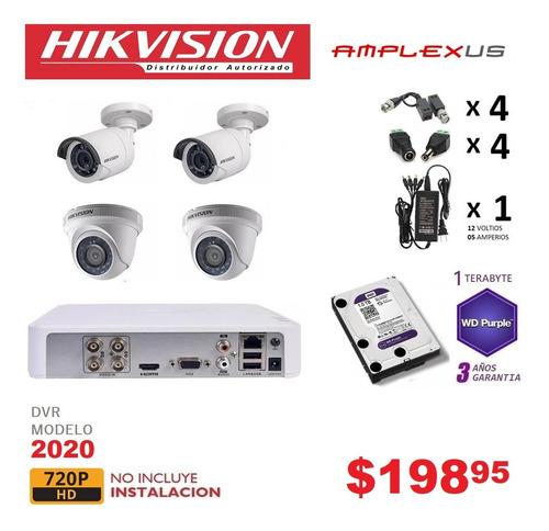 Kit  4 6 8 10  Camaras Seguridad Vigilancia 720p Hikvision