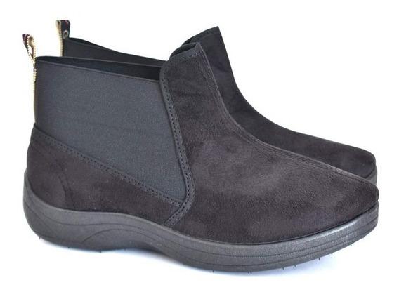 Botineta Negra Gowell Elástico Gamuza 450 - Lopez Calzados