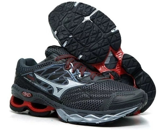 Tênis Mizuno Wave Creation 2.0 Barato Oferta Preto