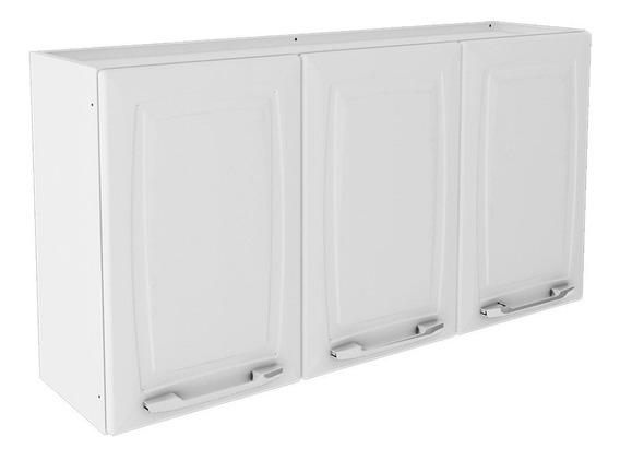 Armário Aéreo Cozinha Itatiaia Criativa Aço 3 Portas Branco