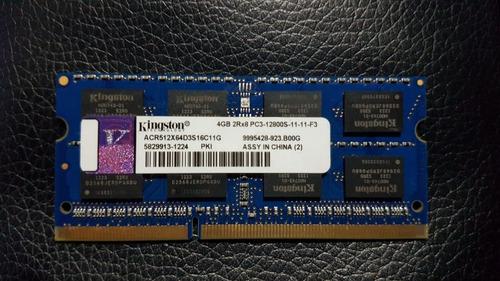Memoria Ram Laptop Kingston 4gb Ddr3 2rx8 Pc3 - 12800s
