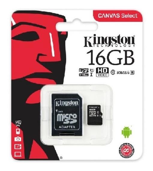 Tarjeta De Memoria Kingston 16gb Clase 10, X5 Unidades