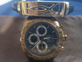 Relógio Tag Heuer Formula 1 Calibre 16 Dourado + Brinde