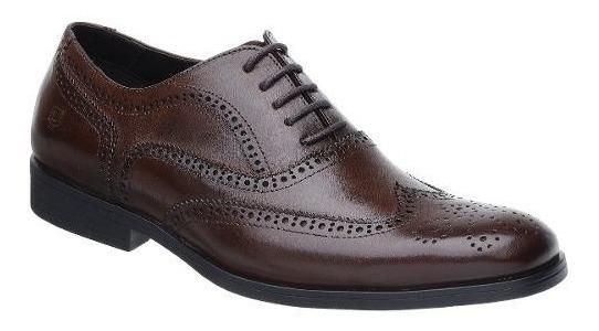 Sapato Oxford Malbork Em Couro Legítimo Solado Comfort