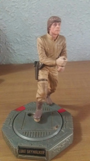 Luke Skywalker Con Base Giratoria Buen Estado Detalle Espada