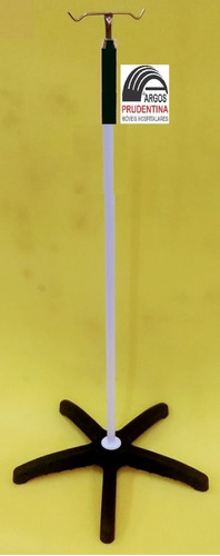 Imagem 1 de 1 de Suporte Soro Epóxi Base Termoplástica 5 Pés S/ Rodízios
