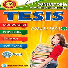 Proyectos, Software, Tesis, Monografias, Maestrias.